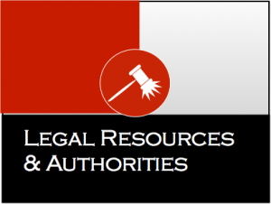 Legal Resources & Authorities